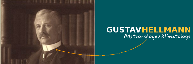 Bild des Meteorologen und Klimatologen Gustav Johannes Georg Hellmann.