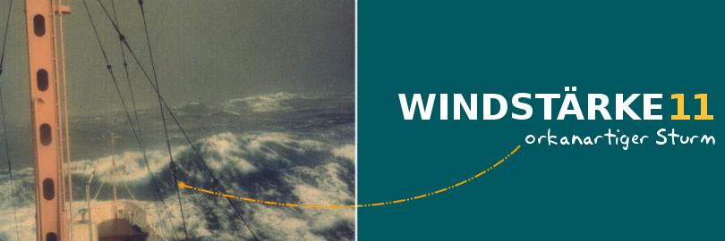 Bei einer Windstärke von 11 spricht man von einem orkanartigen Sturm