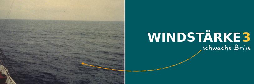 Bei einer Windstärke von 3 herrscht eine schwache Brise vor.