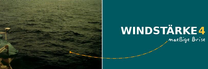 Bei einer Windstärke 4 herrscht eine maessige Brise vor.